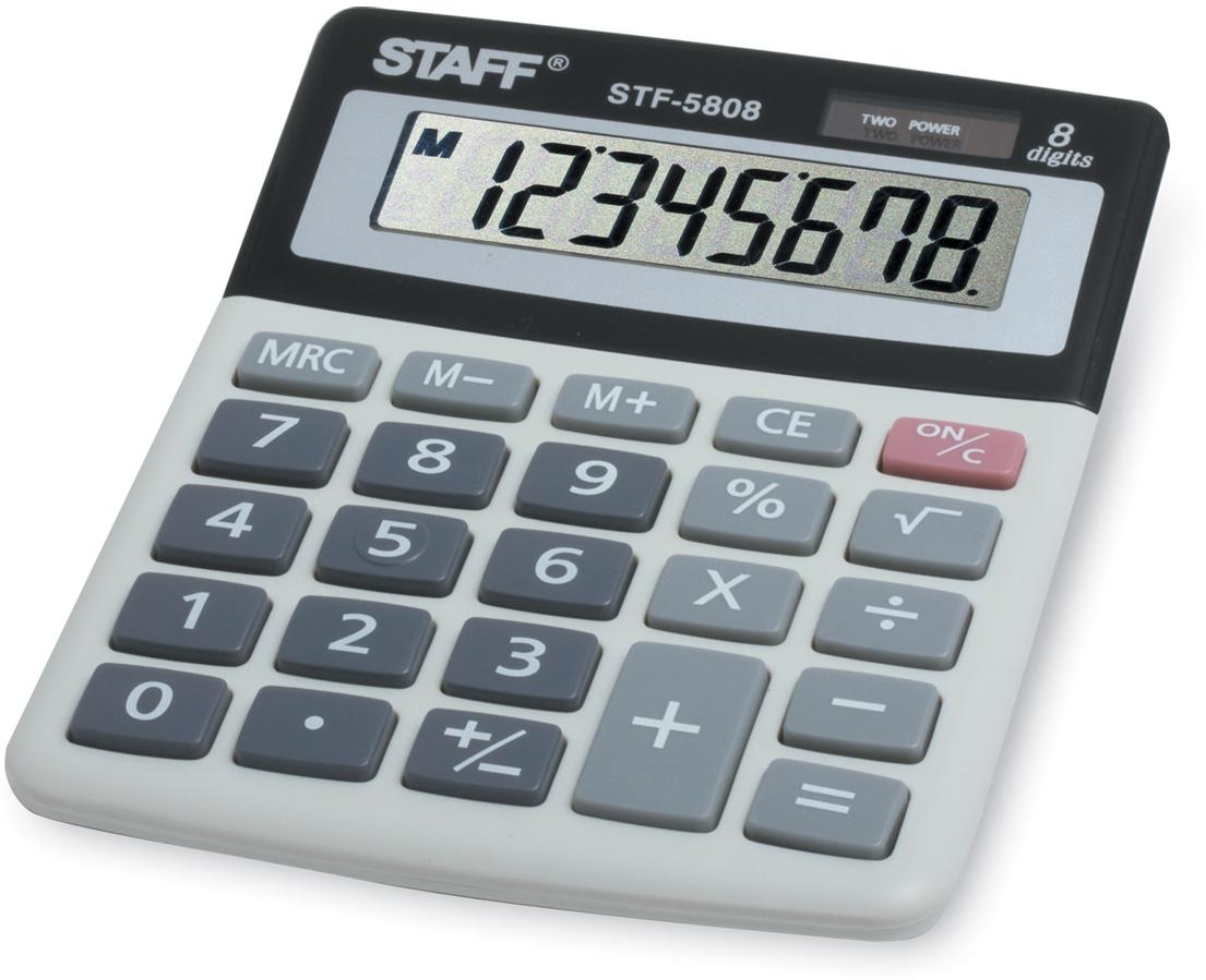 Калькулятор настольный Staff STF-5808 калькулятор staff stf 165