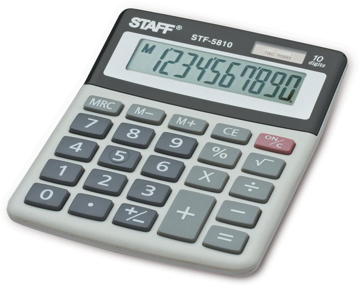 Калькулятор настольный Staff STF-5810 калькулятор staff stf 165