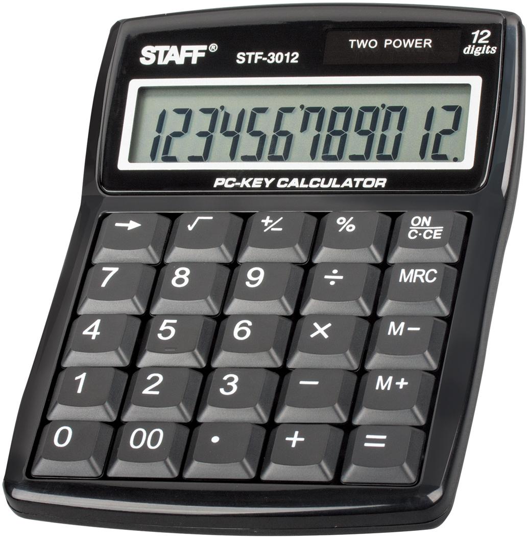 Калькулятор настольный Staff STF-3012 калькулятор staff stf 165