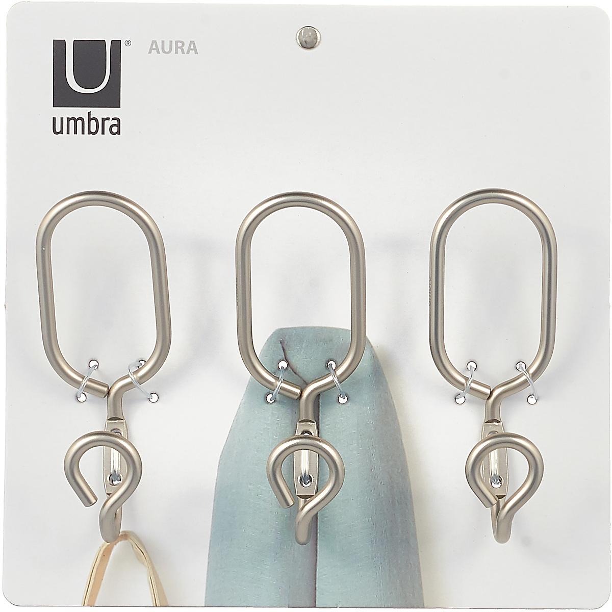Крючки настенные Umbra Aura, цвет: никель
