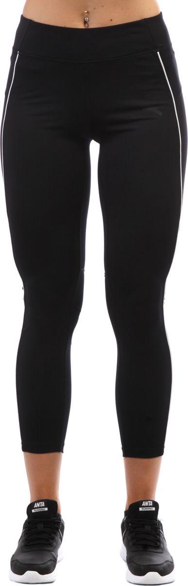 Тайтсы женские Anta, цвет: черный. 86835742-1. Размер L (48)