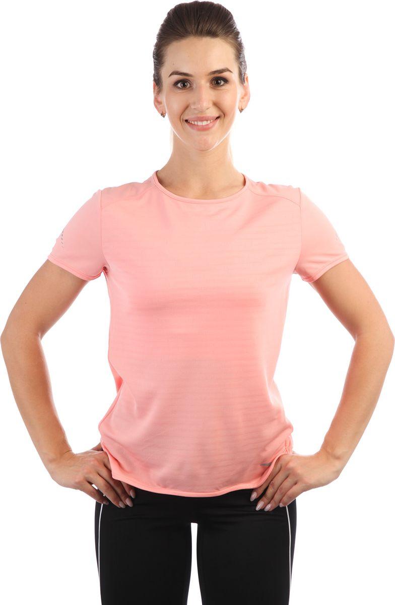 Футболка женская Anta, цвет: розово-персиковый. 86835141-. Размер L (48)