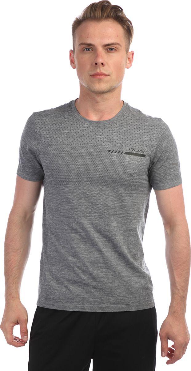 Футболка мужская Anta, цвет: серый меланж. 85835140-. Размер XL (52)