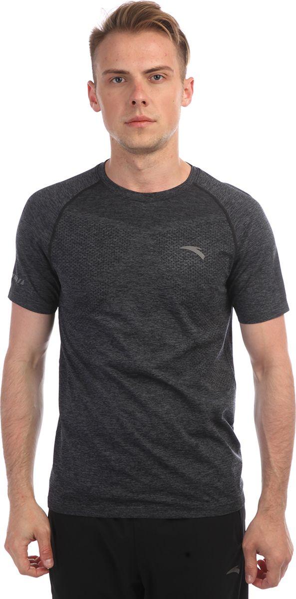 Футболка мужская Anta, цвет: серый. 85835146-. Размер M (48)