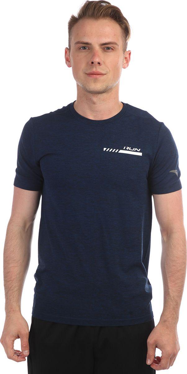 Футболка мужская Anta, цвет: синий меланж. 85835140-2. Размер L (50)