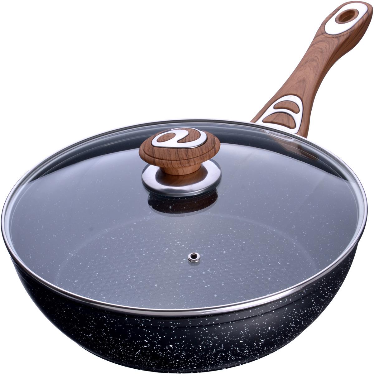 Сковорода-сотейник Mayer & Boch выполнена из качественного алюминия и снабжена антипригарным покрытием особой прочности. Покрытие антипригарное жаропрочное, защищает сковороду от царапин, является экологически чистым и полностью безопасным, без вредных соединений и примесей. За счет того, что пища не пригорает и не пристает к покрытию сковороды, ее легко и быстро мыть. Прочное индукционное дно сковороды устойчиво к повреждениям и деформации. Эргономичная ручка из бакелита не нагревается и не скользит, а крышка из прозрачного стекла позволит следить за процессом приготовления еды. Такая сковорода является незаменимой для жарки и тушения различных блюд. Подходит для использования на всех типах плит. Подходит для мытья в посудомоечной машине.