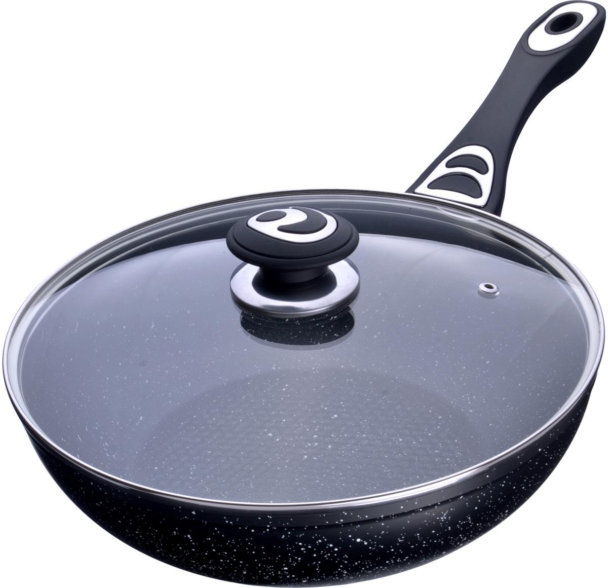 Сковорода-ВОК Mayer & Boch выполнена из качественного алюминия и снабжена антипригарным покрытием особой прочности. Покрытие антипригарное жаропрочное, защищает сковороду от царапин, является экологически чистым и полностью безопасным, без вредных соединений и примесей. За счет того, что пища не пригорает и не пристает к покрытию сковороды, ее легко и быстро мыть. Прочное индукционное дно сковороды устойчиво к повреждениям и деформации. Эргономичная ручка из бакелита не нагревается и не скользит, а крышка из прозрачного стекла позволит следить за процессом приготовления еды. Такая сковорода является незаменимой для жарки и тушения различных блюд. Подходит для использования на всех типах плит. Подходит для мытья в посудомоечной машине.