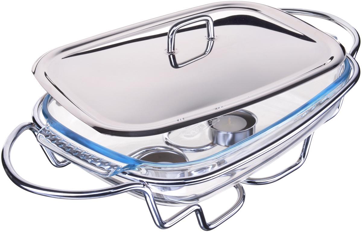 Мармит Mayer & Boch выполнен из стекла и нержавеющей стали. Стеклянная чаша располагается на стальной подставке с двумя подсвечниками для чайных свечей, снабженной двумя ручками. Свечи, устанавливающиеся на подставке, нагревают чашу снизу, таким образом поддерживая нужную температуру приготовленного блюда. Крышка из качественной нержавеющей стали с удобной ручкой плотно прикрывает чашу сверху, в свою очередь также не давая остыть блюду. Благодаря своему элегантному дизайну, мармит с приготовленным блюдом можно сразу подавать на стол, не перекладывая еду на сервировочные тарелки. Изящный, с современным дизайном, мармит украсит любой праздничный стол, а блюда в нем будут всегда теплыми и ароматными. Стеклянная чаша (без крышки и подставки) подходит для использования в духовом шкафу и микроволновой печи. Подходит для мытья в посудомоечной машине. Подходит для хранения в холодильнике.