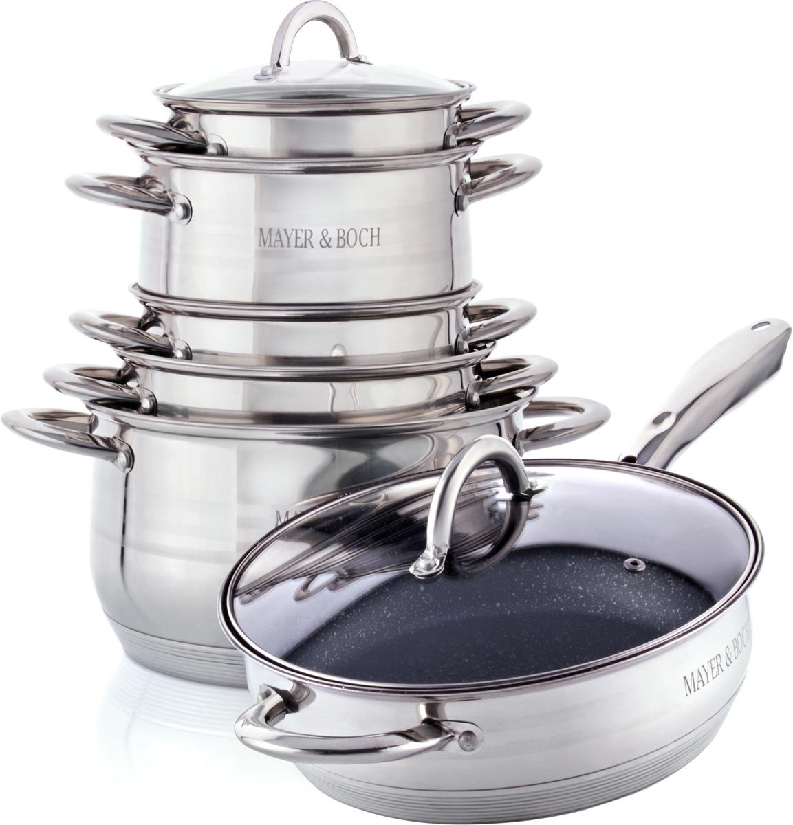 Набор посуды для приготовления пищи Mayer & Boch, 12 предметов. 27291 набор посуды mayer