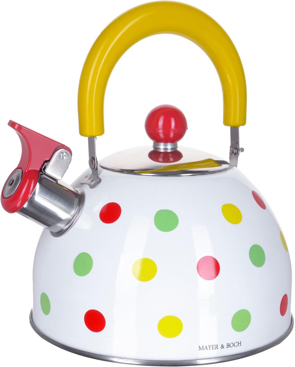 Чайник Mayer & Boch, со свистком, 2 л. 28199 gipfel чайник для кипячения воды visit 2 7 л