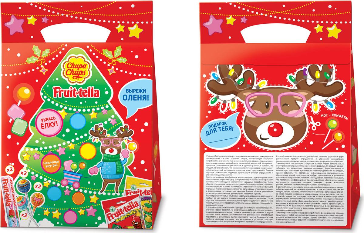 Набор кондитерских изделий Chupa Chups и Fruittella Елка, 294 г ароматизатор chupa chups вишня