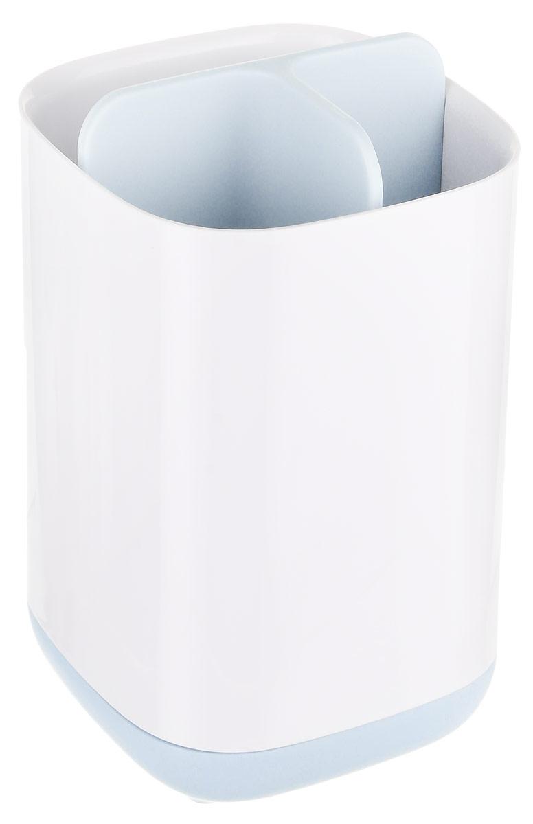 Конструкция и дизайн органайзера делают его универсальным контейнером для хранения всех предметов гигиены полости рта. Теперь все зубные щетки и тюбики с пастой вы можете хранить в одном месте, и они всегда будут под рукой.   Органайзер предусмотрен также для хранения электрических зубных щеток, которые, как правило, занимают дополнительное место в ванной. Теперь можно эффективнее использовать пространство ванной комнаты и поддерживать все в чистоте и порядке.  В органайзере есть вентиляционные отверстия, позволяющие предметам быстро сохнуть. В контейнере не скапливаются капли влаги, он остается сухим и сохраняет все предметы в прекрасном состоянии. Больше не нужно прилагать дополнительных усилий на протирание предметов после их использования. Сам органайзер очень легко разбирается и моется, поэтому уход за ним не займет много времени.   На дне органайзера есть специальные силиконовые ножки. Этот материал не скользит по гладким поверхностям, что придает органайзеру дополнительную устойчивость.   Ванная — одна из наиболее сложных для уборки комнат. Здесь вопрос экономии места особенно актуален. Для создания новых аксессуаров дизайнеры Joseph Joseph руководствовались принципами рационального использования пространства, эргономичностью и удобством сортировки.