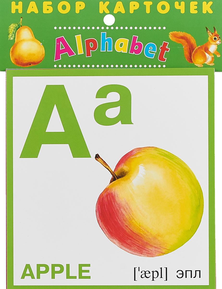 Набор карточек. Азбука английская игровые наборы алисенок набор английская азбука 76 букв