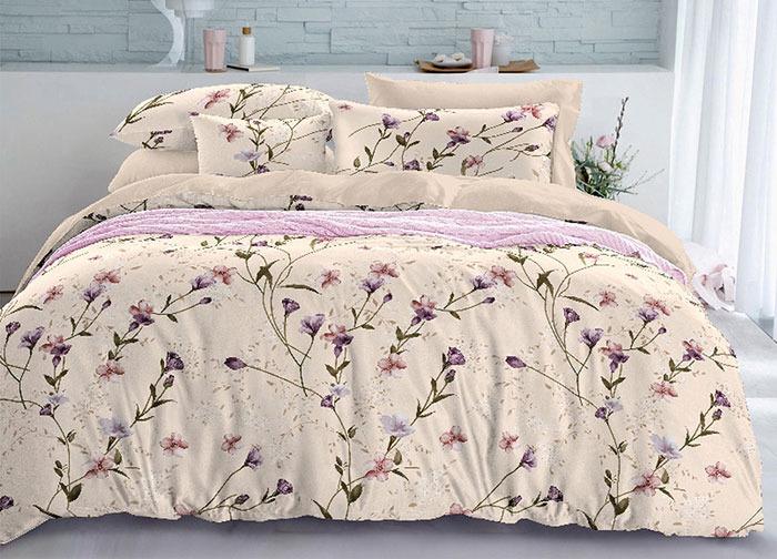 """Комплект белья Primavera """"Васильки"""", 1,5-спальный, наволочки 70x70, цвет: розовый. 3516S"""
