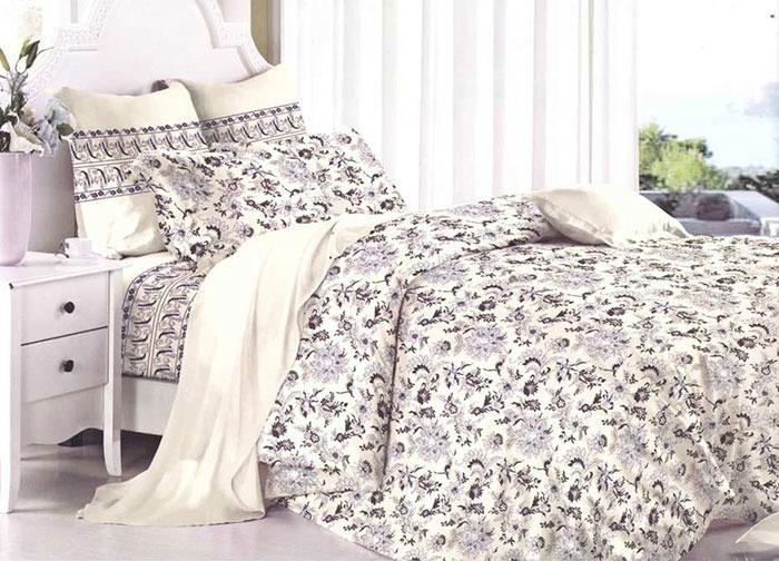 Комплект белья Primavera Вдохновение, 2-спальный, наволочки 70x70, цвет: Серый. 3524S комплект белья primavera classic брасика 1 5 спальный наволочки 70x70 цвет серый