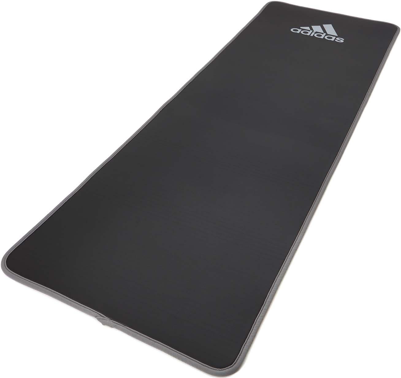 Коврик тренировочный Adidas, цвет: серый, толщина 10 мм, длина 183 см