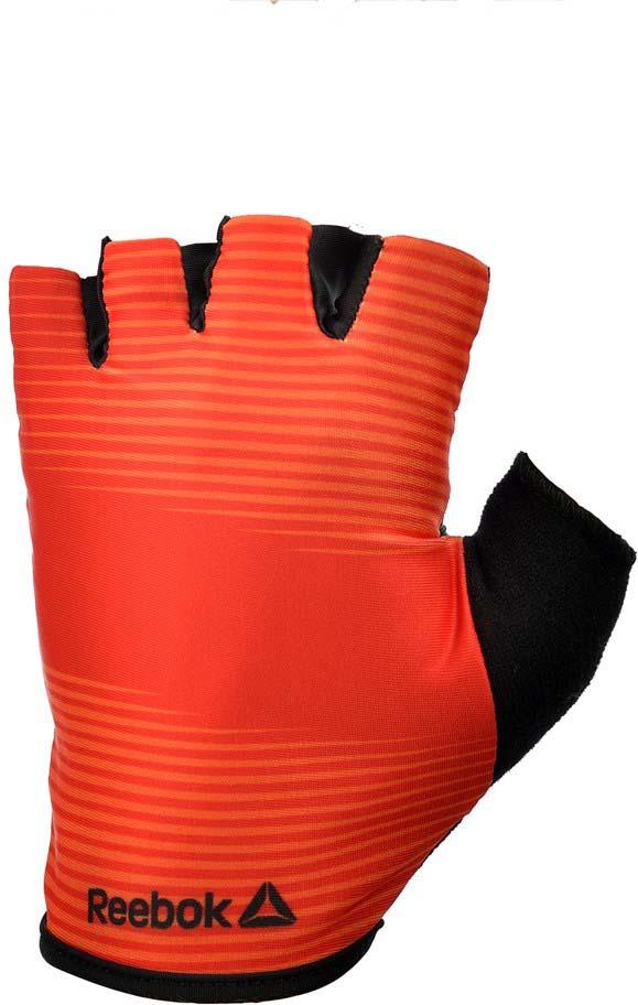 Перчатки для фитнеса Reebok, цвет: красный, черный, размер XL бейсболка reebok reebok re160cualmc8