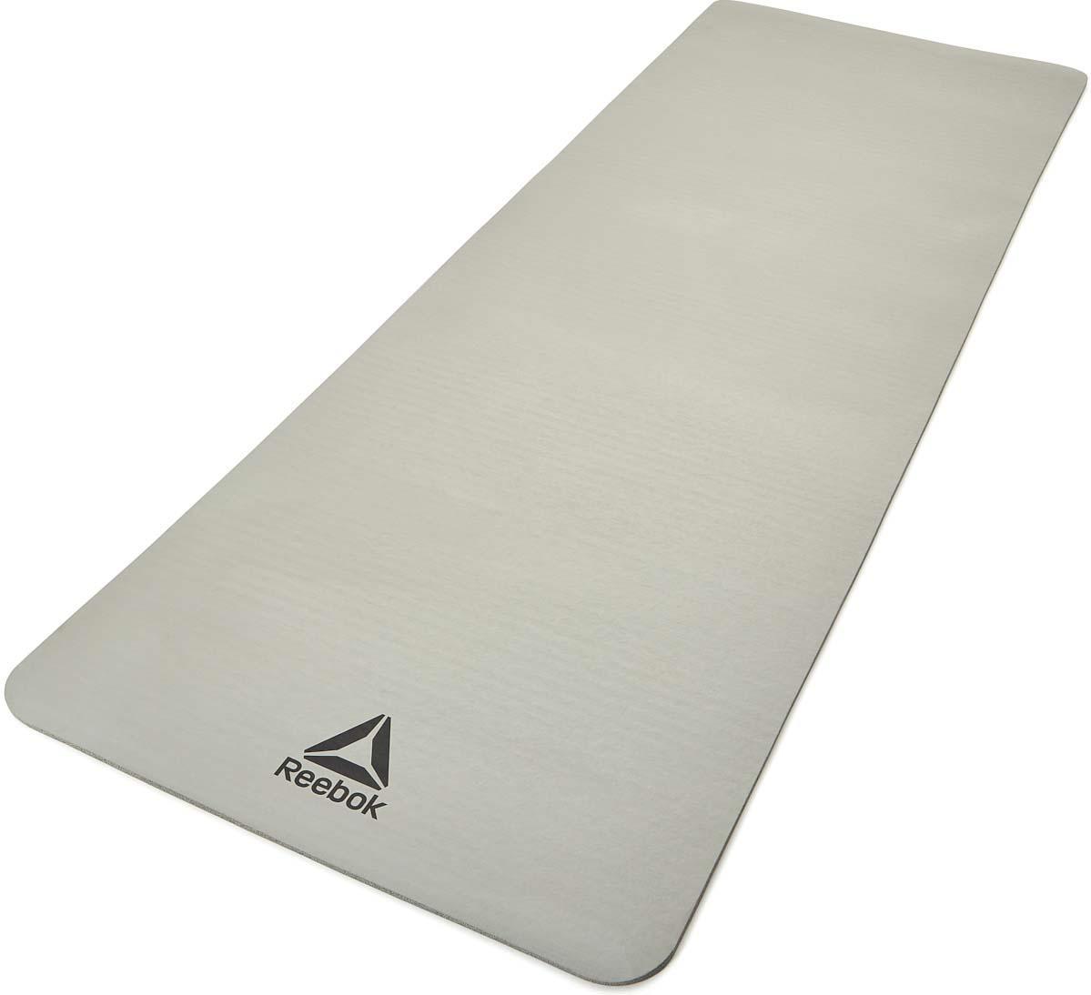 Коврик тренировочный Adidas, цвет: серый, толщина 7 мм, длина 173 см, Reebok
