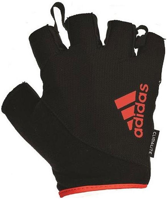 Перчатки для фитнеса Adidas, цвет: черный, красный, размер L меховые наушники wei wei f 005