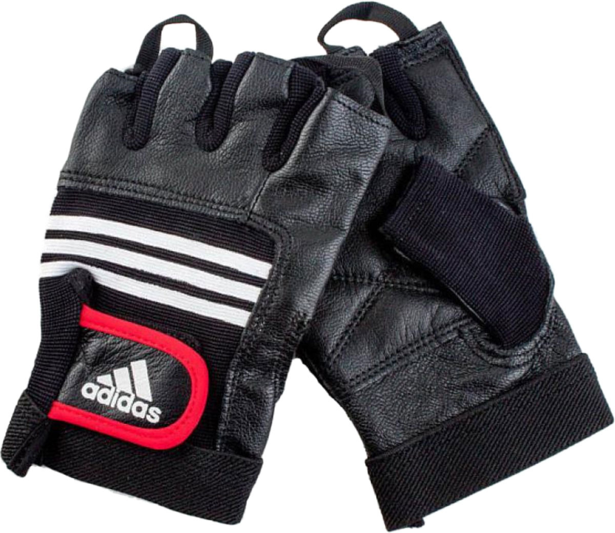 Тяжелоатлетические перчатки Adidas Leather Lifting Glove, цвет: черный, размер S/M цена
