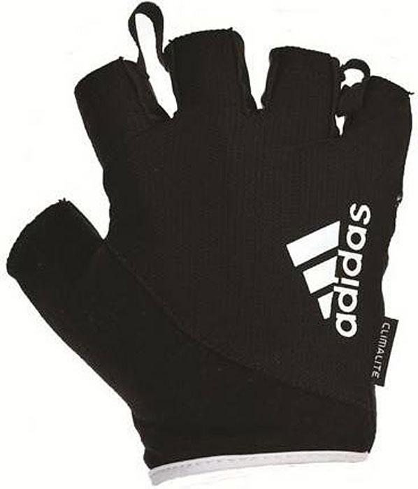 Перчатки для фитнеса Adidas, цвет: черный, белый, размер XL перчатки мма everlast перчатки тренировочные prime mma l xl