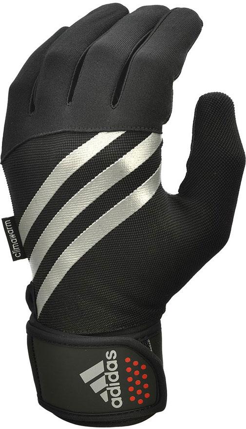 Перчатки тренировочные Adidas, утепленные, цвет: черный, размер XL перчатки мма everlast перчатки тренировочные prime mma l xl
