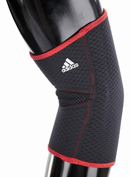 Фиксатор для локтя Adidas, цвет: черный, размер S/M