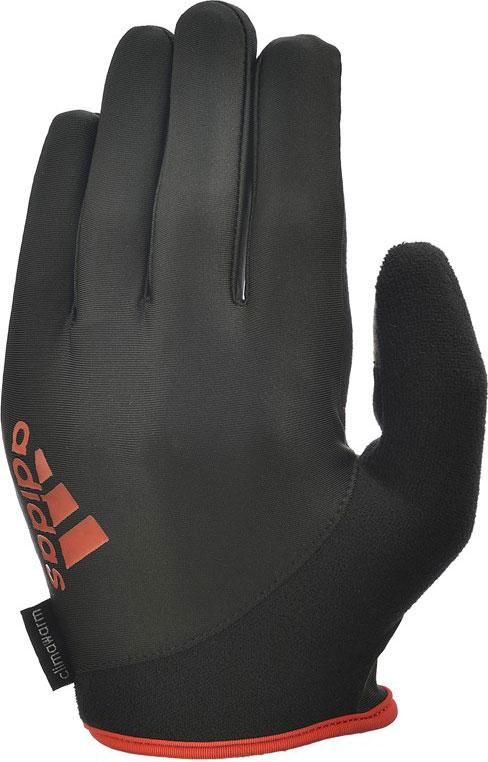 Перчатки для фитнеса Adidas Essential, с пальцами, цвет: черный, красный, размер M
