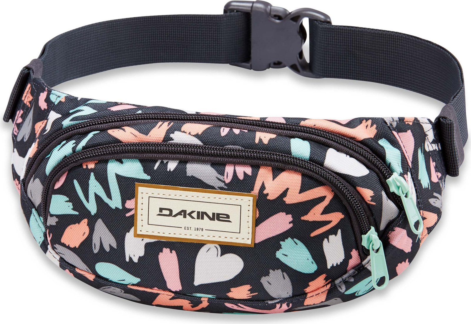 Сумка на пояс Dakine Hip Pack, цвет: черный, разноцветный, 23 х 13 х 8 см