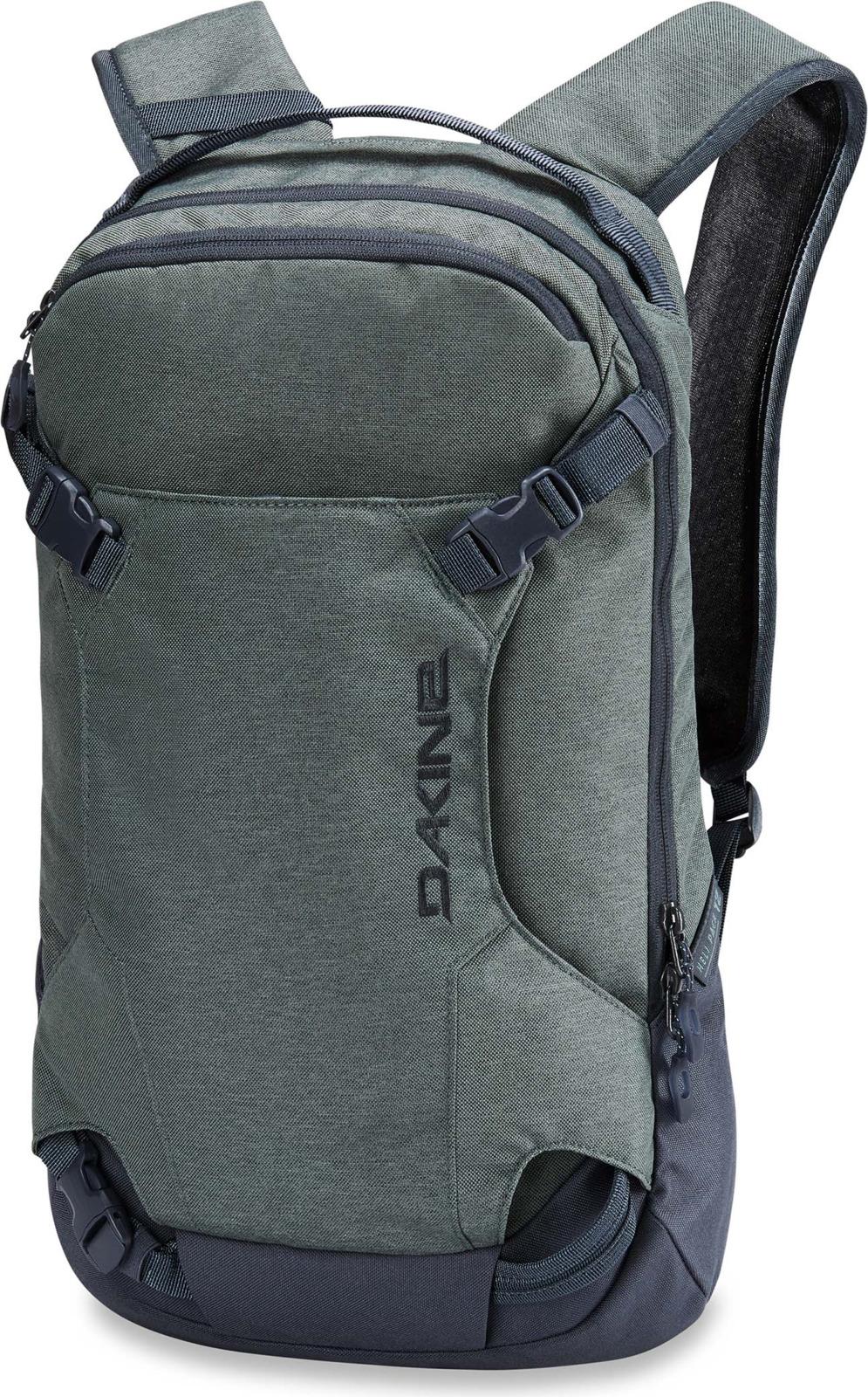 """Рюкзак для сноубордистов или горнолыжников. Это самый маленький рюкзак из семейства HELI. Только самое необходимое можно положить в него. (объем 12 литров) Совок лопаты закрепляется снаружи. Одно отделение, в которое встраивается защита спины(продается отдельно). В него можно положить ноутбук до 15"""", что делает его пригодным для использования в городе. Во время пеших перемещений лыжи или сноуборд можно подвесить к рюкзаку за специальные лямки. Анатомические лямки. Габариты : 50х30х10 см. Вес 0,7 кг."""
