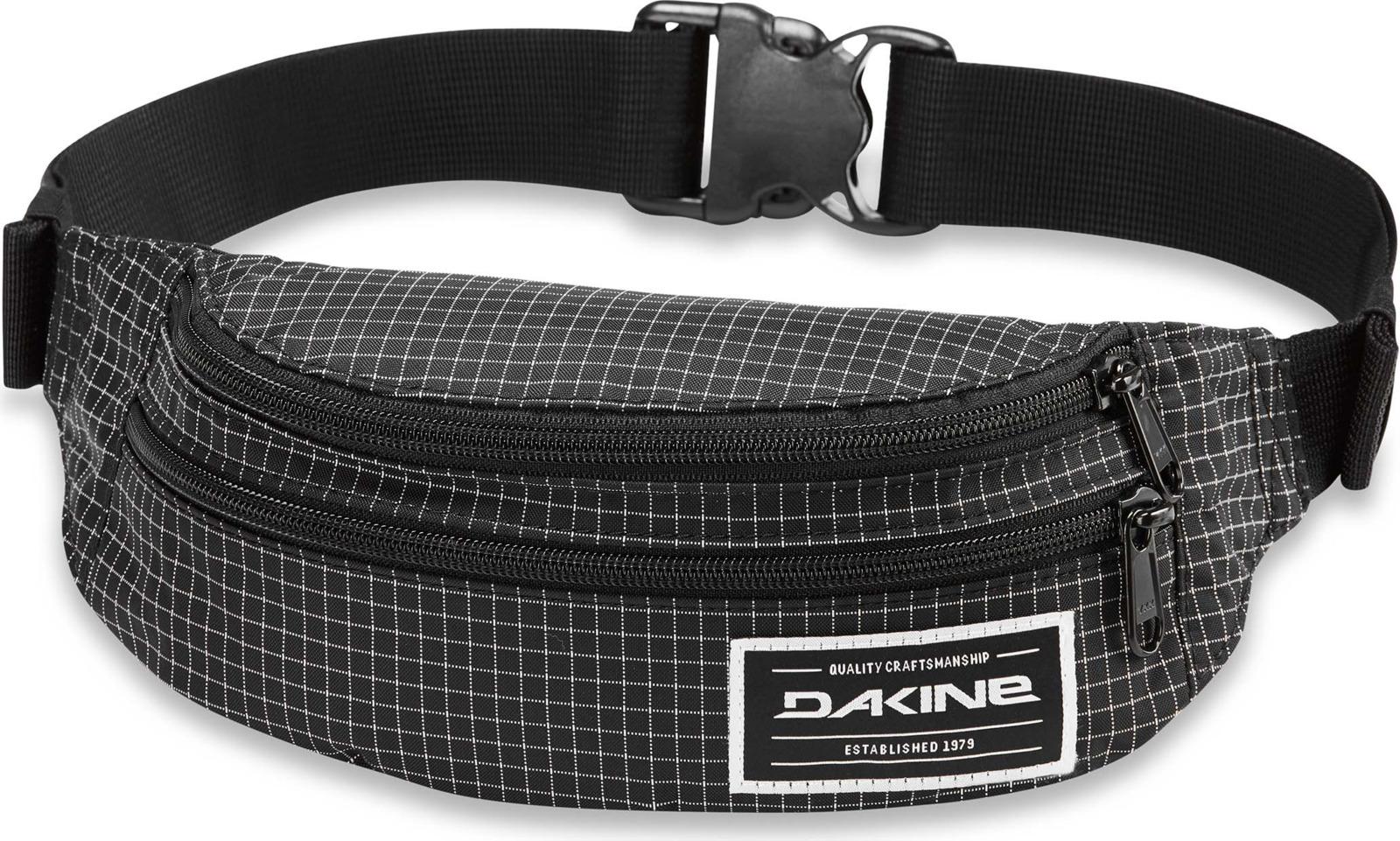 Сумка на пояс Dakine Classic Hip Pack, цвет: черный в клетку, 23 х 15 х 80 см