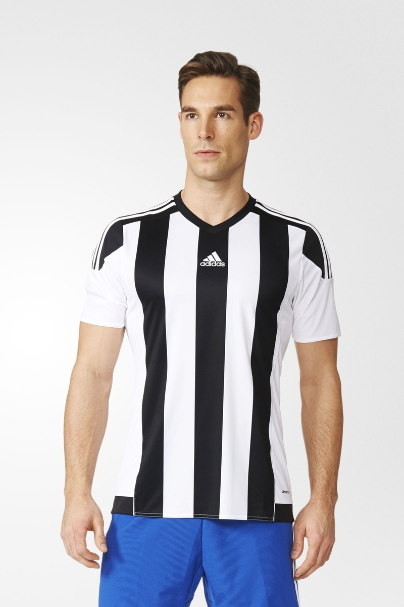 Футболка мужская Adidas Striped 15 Jsy, цвет: белый. M62777. Размер S (44/46) футболка мужская adidas rfu 3s tee цвет красный cd5275 размер s 44 46