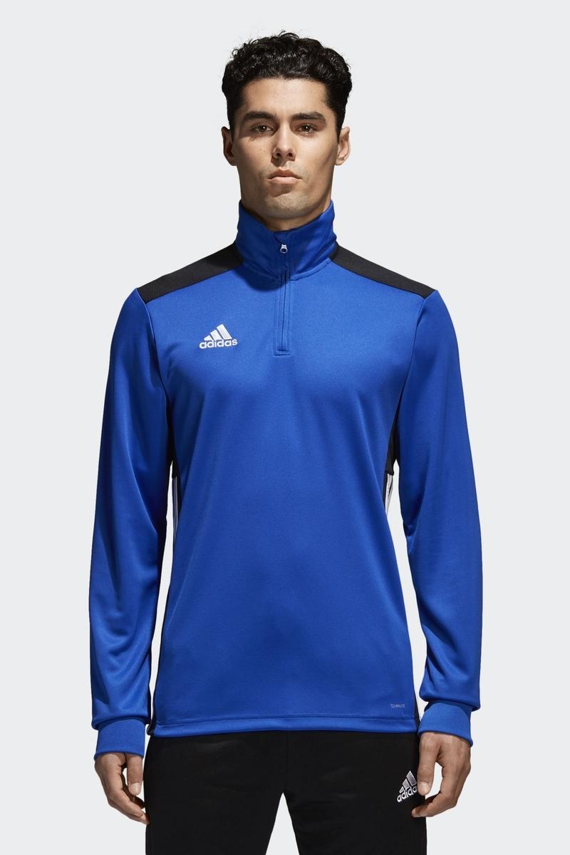 Толстовка мужская Adidas Regi18 Tr Top, цвет: голубой. CZ8649. Размер XXL (60/62) толстовка мужская adidas regi18 tr top цвет черный cz8647 размер xxl 60 62