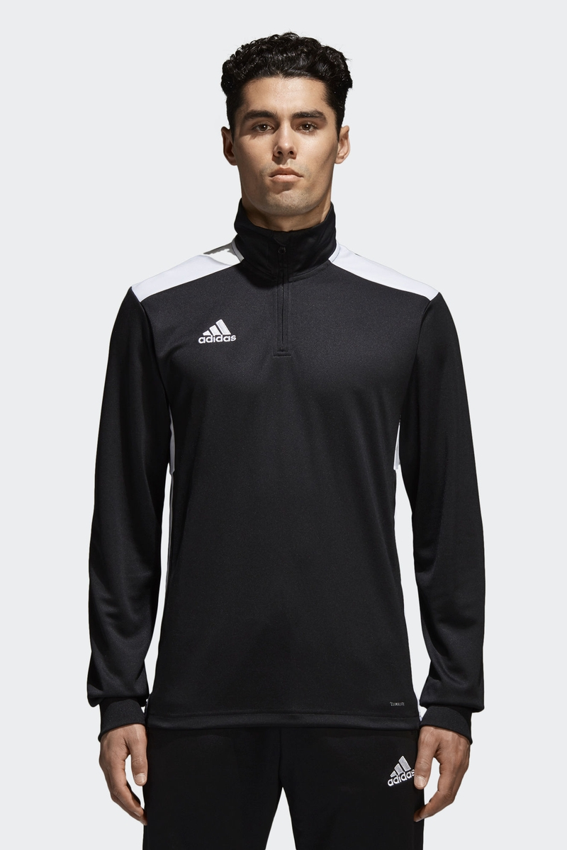 Толстовка мужская Adidas Regi18 Tr Top, цвет: черный. CZ8647. Размер XXL (60/62) футболка мужская adidas freelift ak цвет зеленый bk6105 размер xxl 60 62