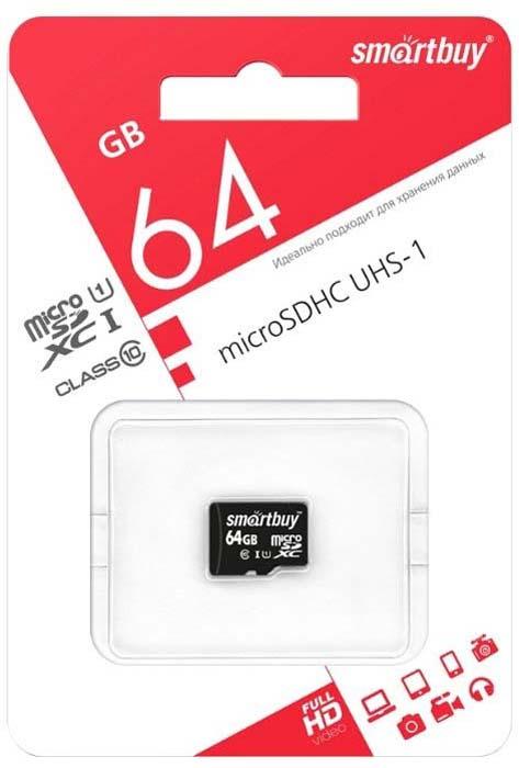 Карта памяти SmartBuy microSDXC Class 10 UHS-I U1 64GB карта памяти разновидности
