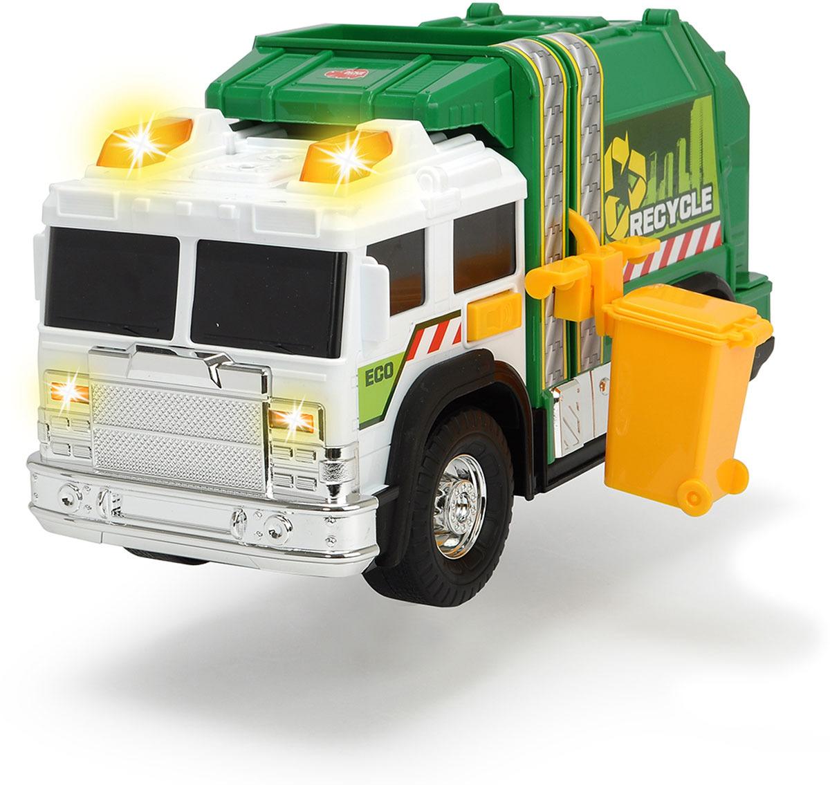 Машинка Dickie Toys Action sereies. Мусоровоз, 30 см dickie toys звук акс