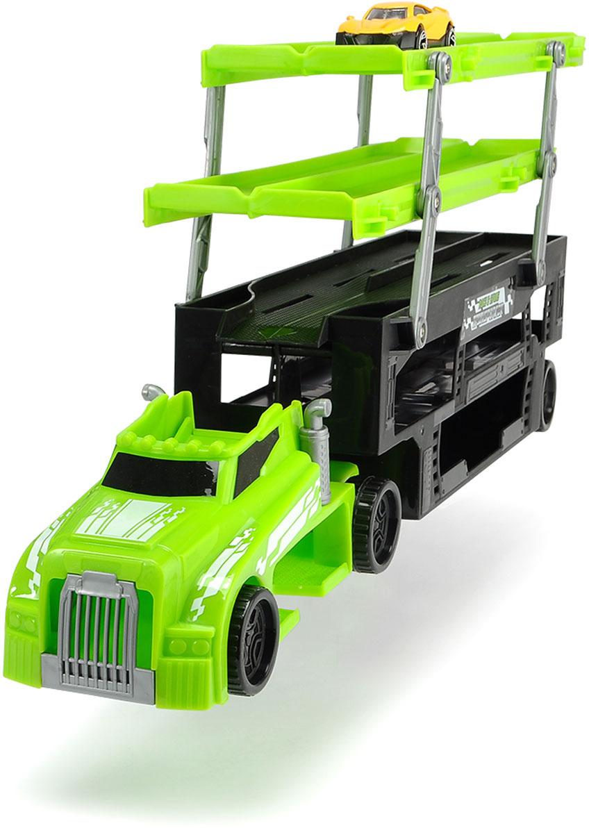Автовоз Dickie Toys City, цвет: зеленый, 44,5 см + 1 машинка junfa toys игровой набор автовоз и 5 машинок трансформеров цвет автовоза красный