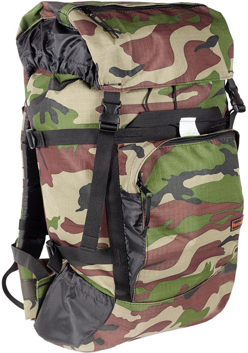 Рюкзак туристический Huntsman Кодар Air Mesh, цвет: камуфляж классический, 50 л рюкзак туристический сплав цвет хаки 43 л 5022425