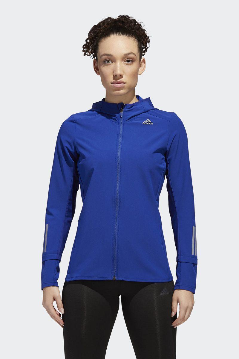 Ветровка женская Adidas Response Jacket, цвет: синий. CY5733. Размер XL (52/54) adidas adidas компьютер рюкзак птица перо синий aj8528