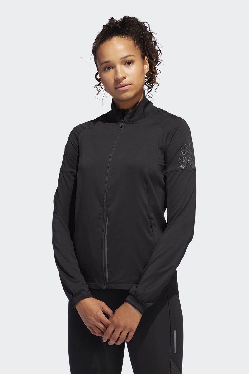 Ветровка женская Adidas Supernova Jkt, цвет: черный. CZ5466. Размер XL (52/54) ветровка мужская adidas con18 rain jkt цвет черный bq6528 размер l 52 54