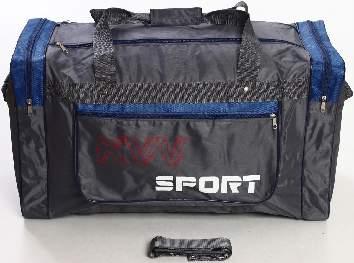 Сумка дорожно-спортивная Ibag, цвет: серый, синий, 63 л. 6403/5