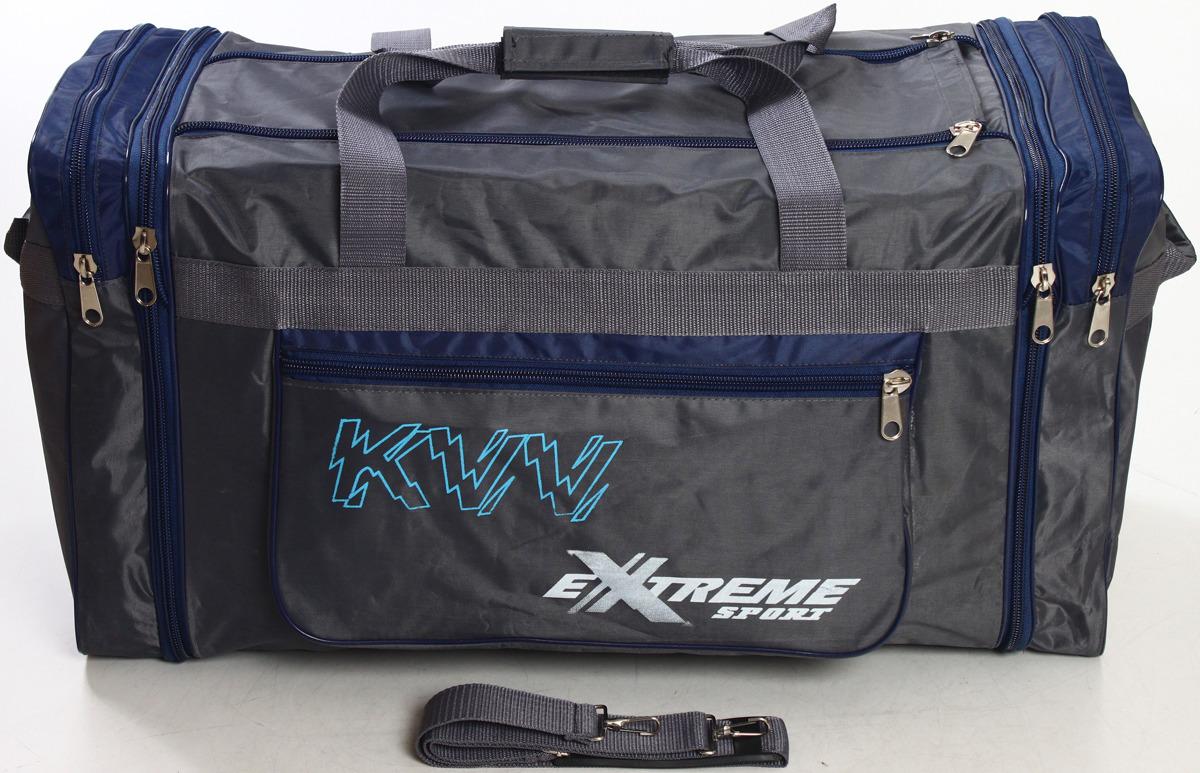 Сумка дорожно-спортивная Ibag, цвет: серый, синий, 63 л. 6403/10 сумка дорожно спортивная ibag цвет хаки серый 63 л 6403 10