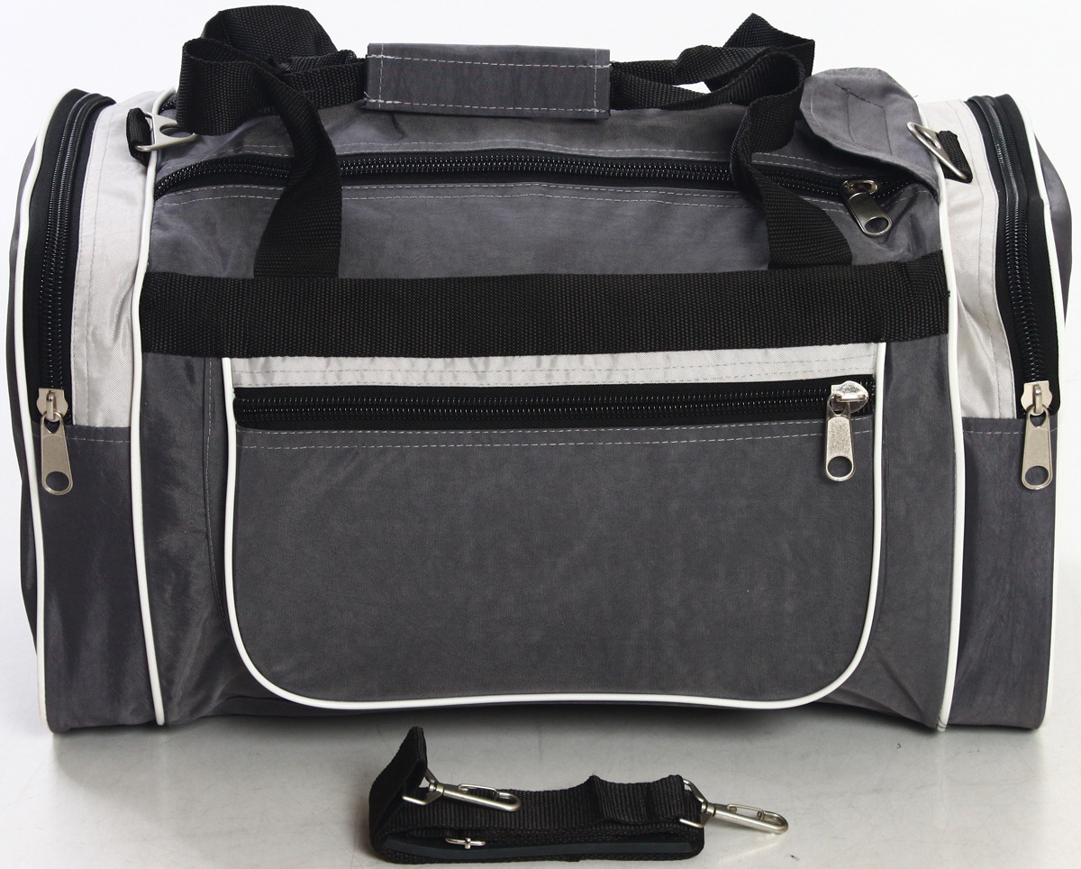 Сумка дорожно-спортивная Ibag, цвет: серый, черный, 36,5 л. 6205/10