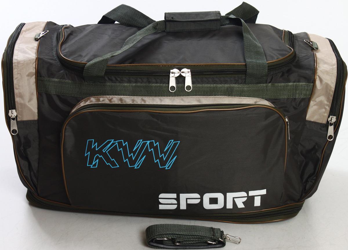 Сумка дорожно-спортивная Ibag, цвет: хаки, бежевый, 50-78,5 л. 6323 сумка дорожно спортивная ibag цвет хаки серый 63 л 6403 10