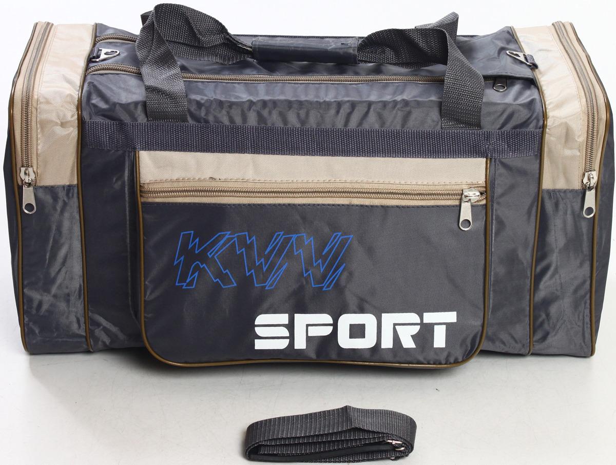 Сумка дорожно-спортивная Ibag, цвет: серый, бежевый, 63 л. 6403/10