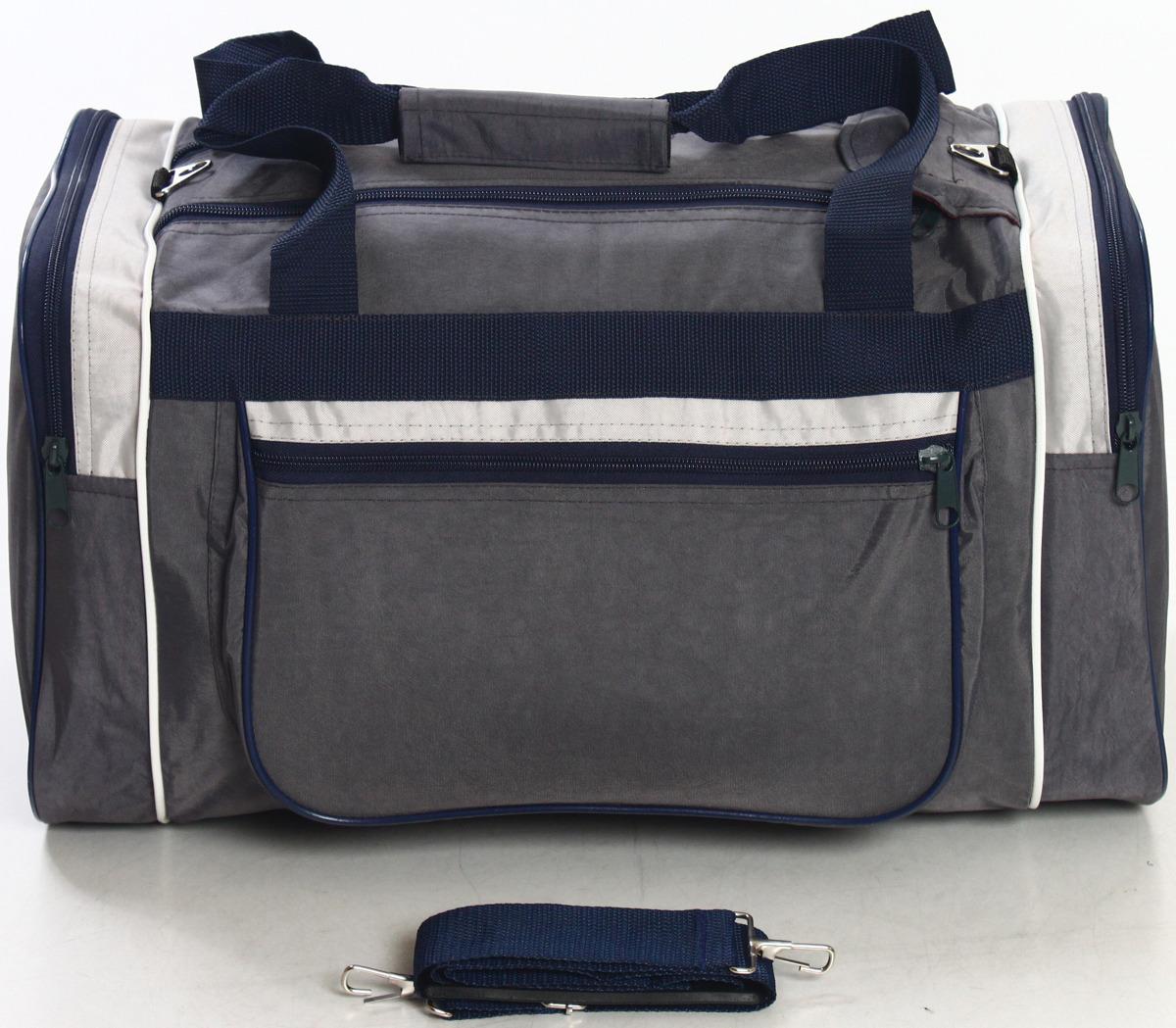 Сумка дорожно-спортивная Ibag, цвет: серый, синий, 36,5 л. 6205/8