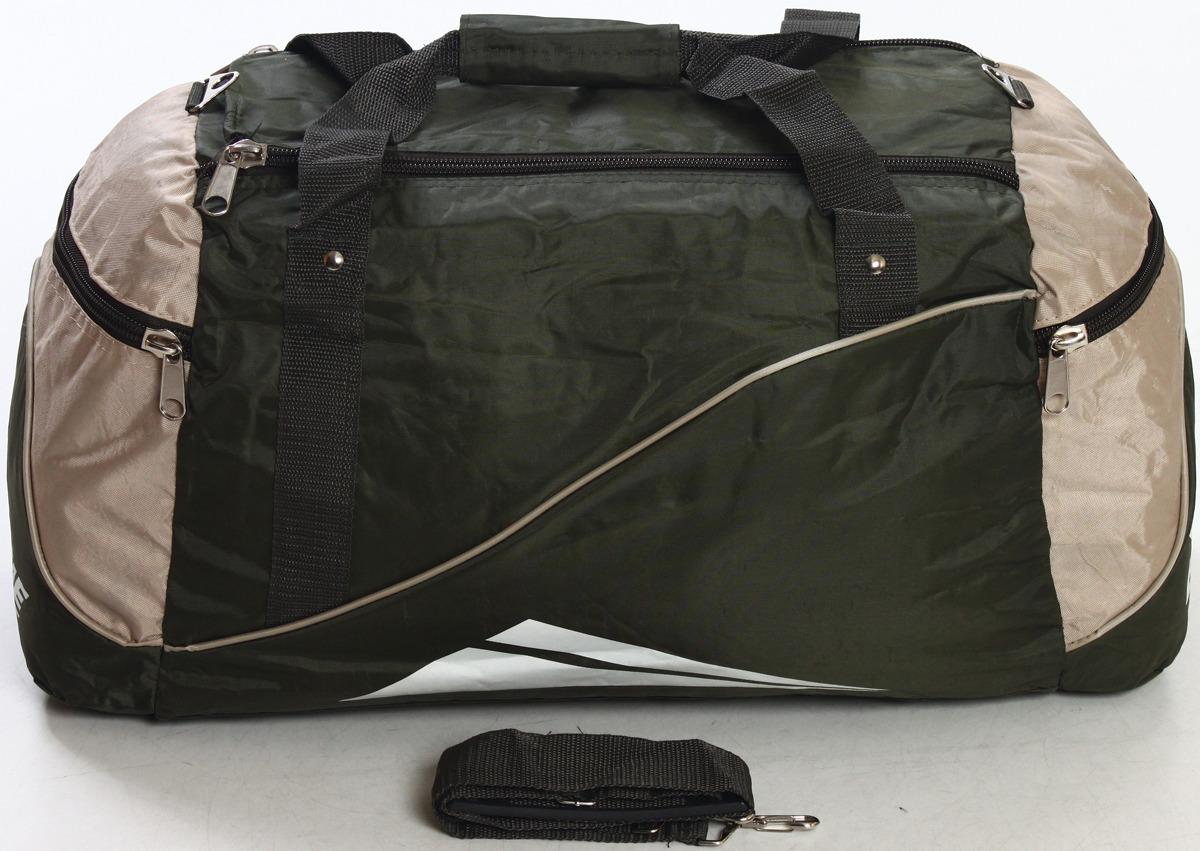 Сумка дорожно-спортивная Ibag, цвет: хаки, бежевый , 56,5 л. 6309