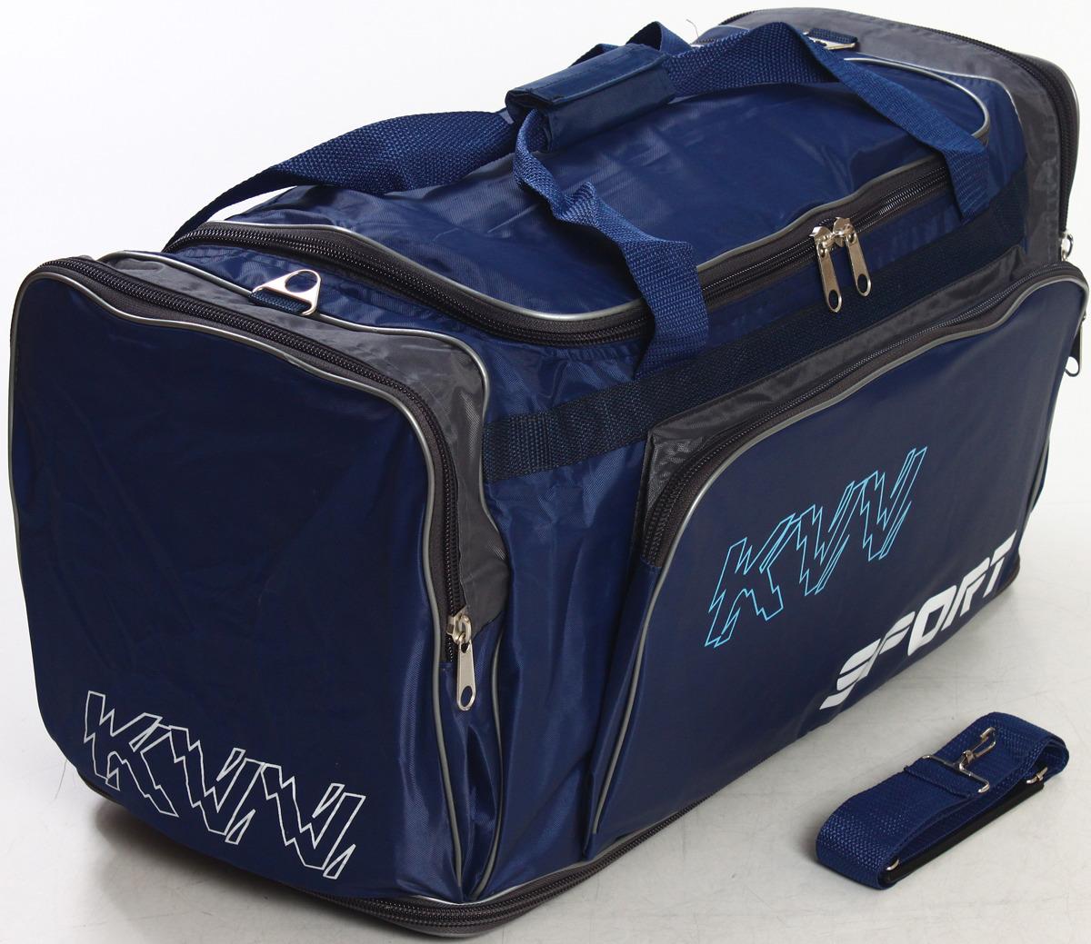 Сумка дорожно-спортивная Ibag, цвет: синий, серый, 50-78,5 л. 6323