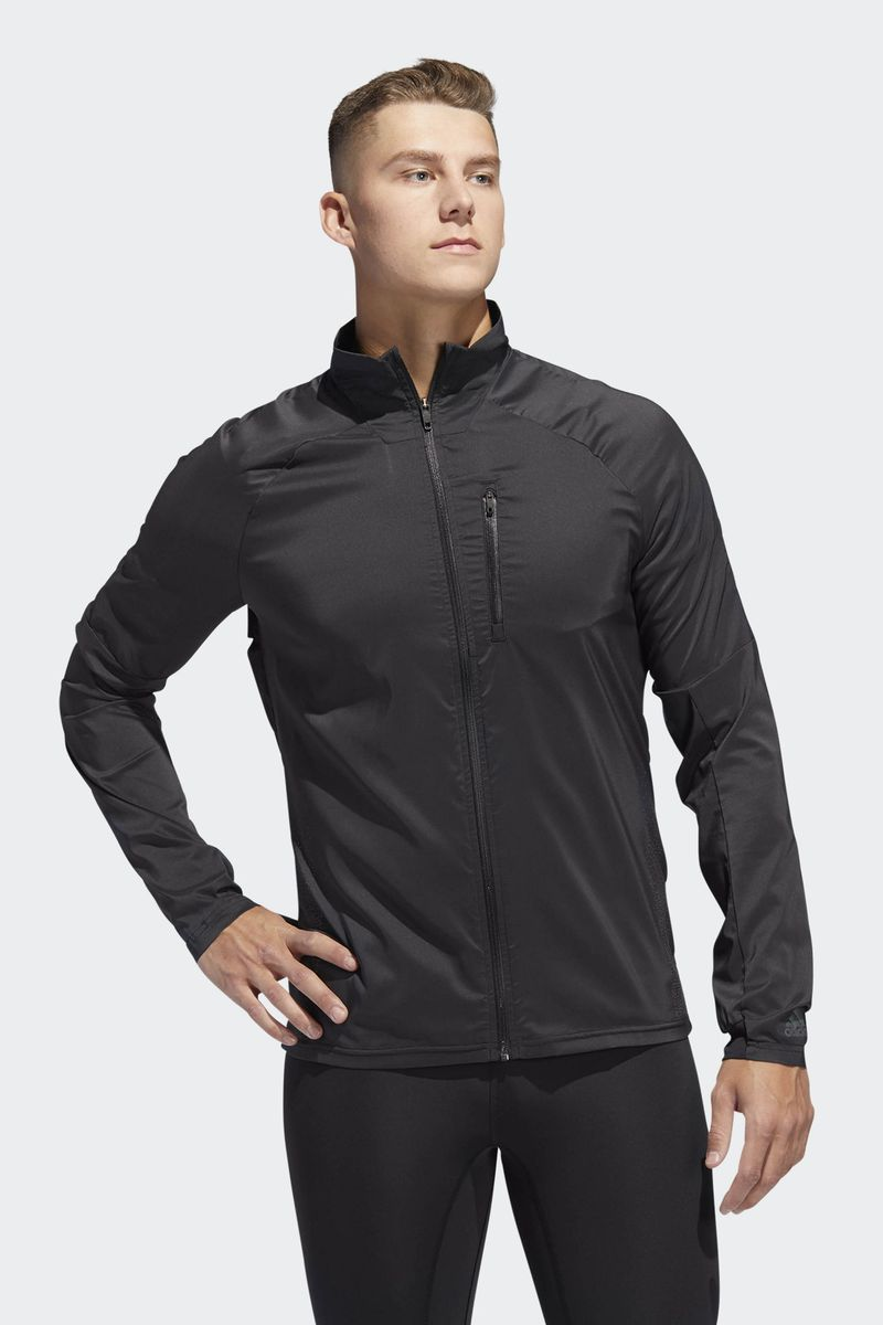 Ветровка мужская Adidas Supernova Jkt, цвет: черный. D73188. Размер XXL (60/62) футболка мужская adidas freelift ak цвет зеленый bk6105 размер xxl 60 62