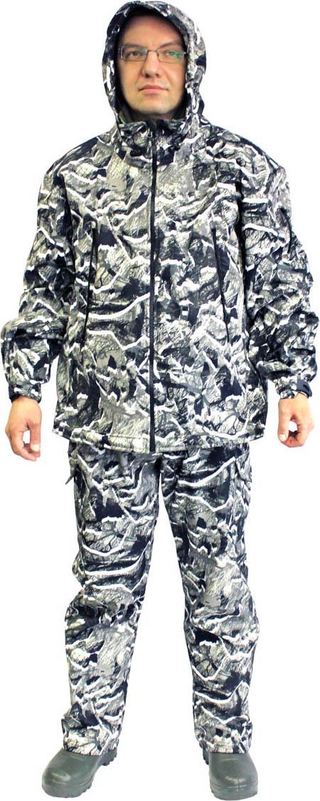 Костюм камуфляжный мужской Woodline SnowRock Softshell, цвет: серый камуфляж. 68761. Размер L (48/50-182/188)